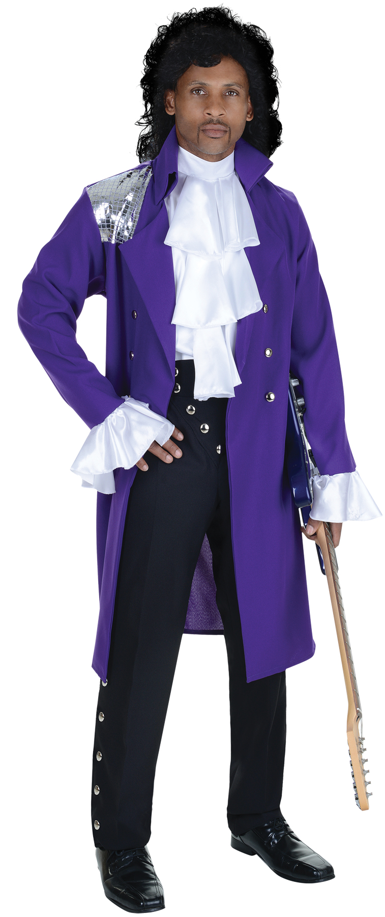 Prince Purple Rain Costume Jacket Jabot Adult Men's One Size | eBay