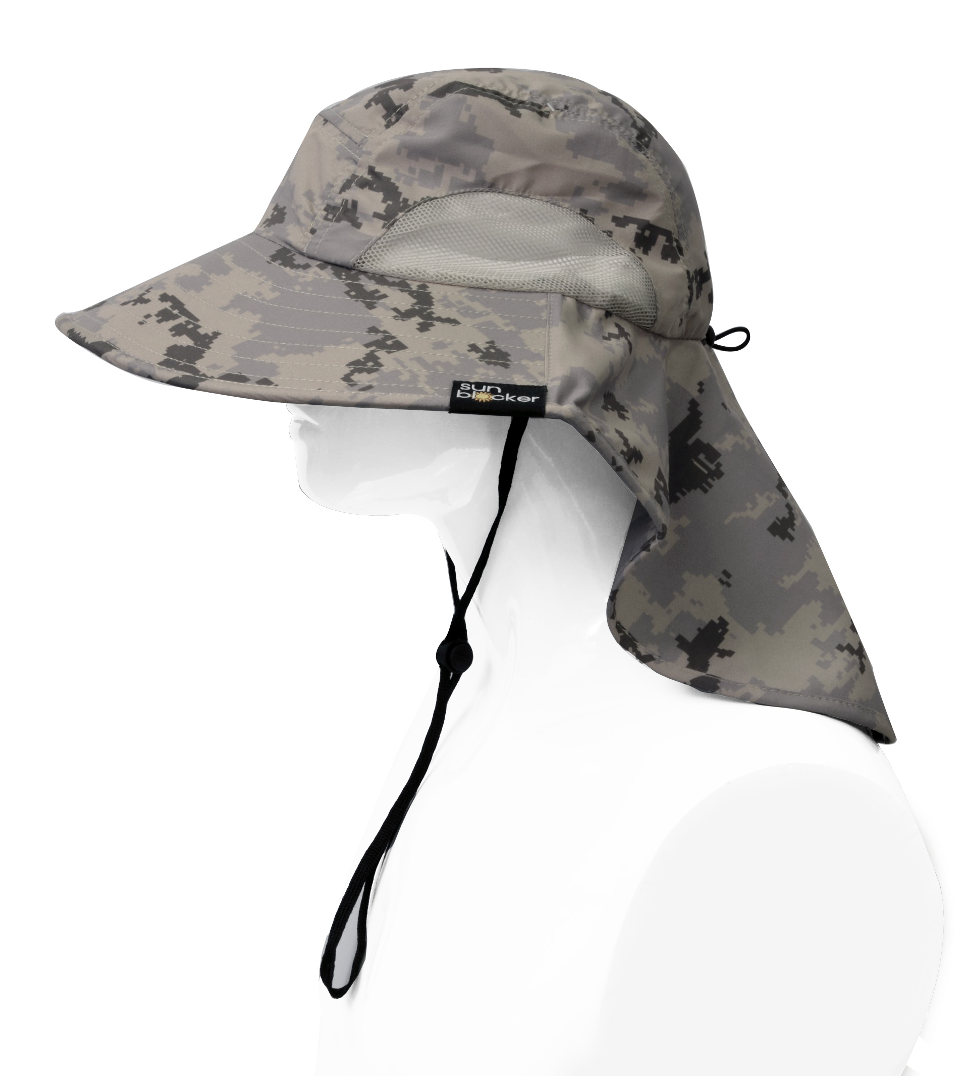Sun-Hat-Camo-Cap-w-Wide-Brim-Ear-amp-Neck-UV-Protection-for-Fishing-Camping-Hiking thumbnail 4