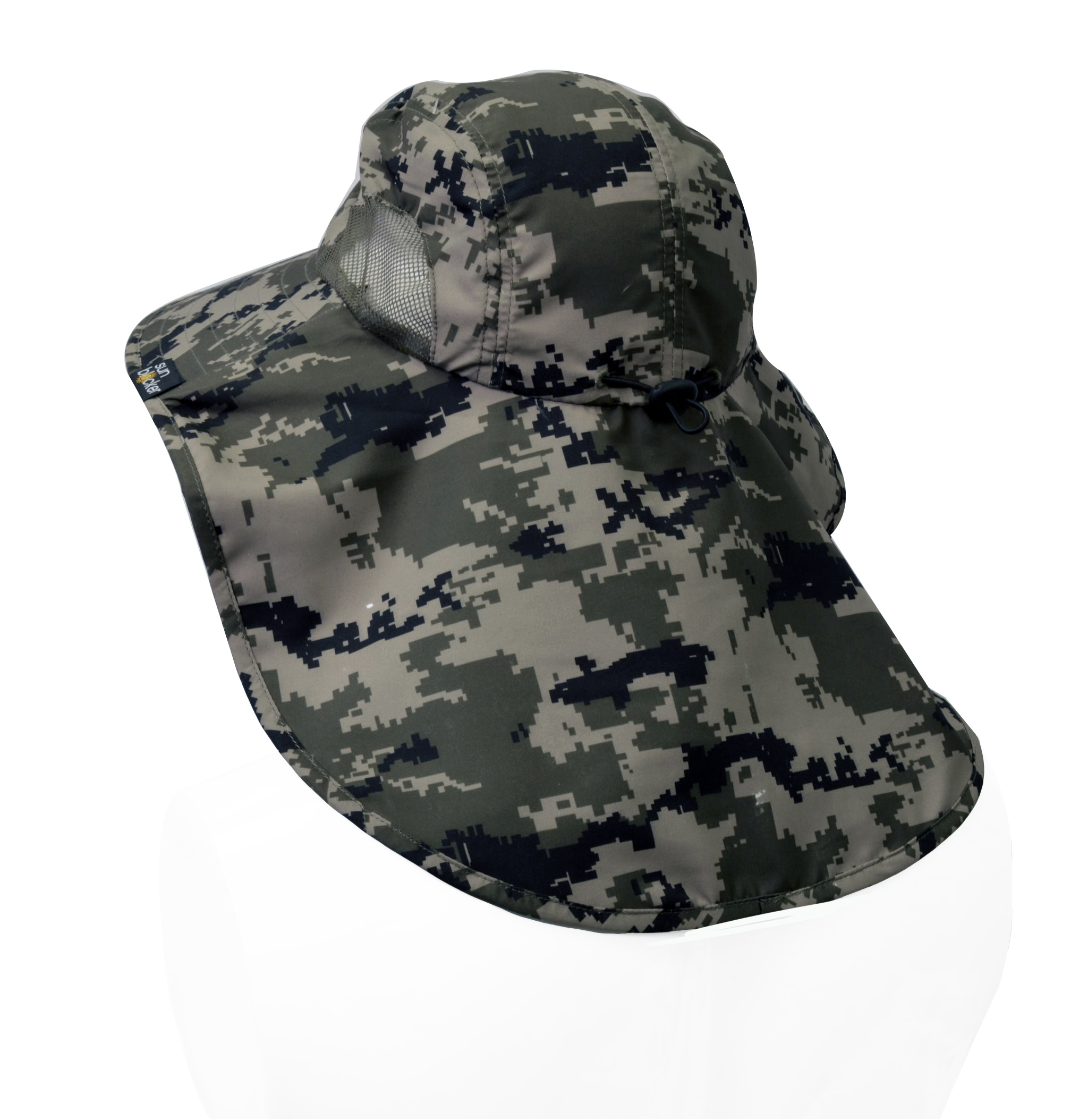 Sun-Hat-Camo-Cap-w-Wide-Brim-Ear-amp-Neck-UV-Protection-for-Fishing-Camping-Hiking thumbnail 10