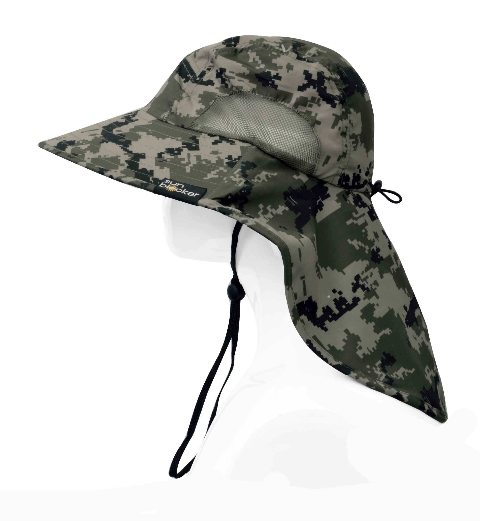 Sun-Hat-Camo-Cap-w-Wide-Brim-Ear-amp-Neck-UV-Protection-for-Fishing-Camping-Hiking thumbnail 9
