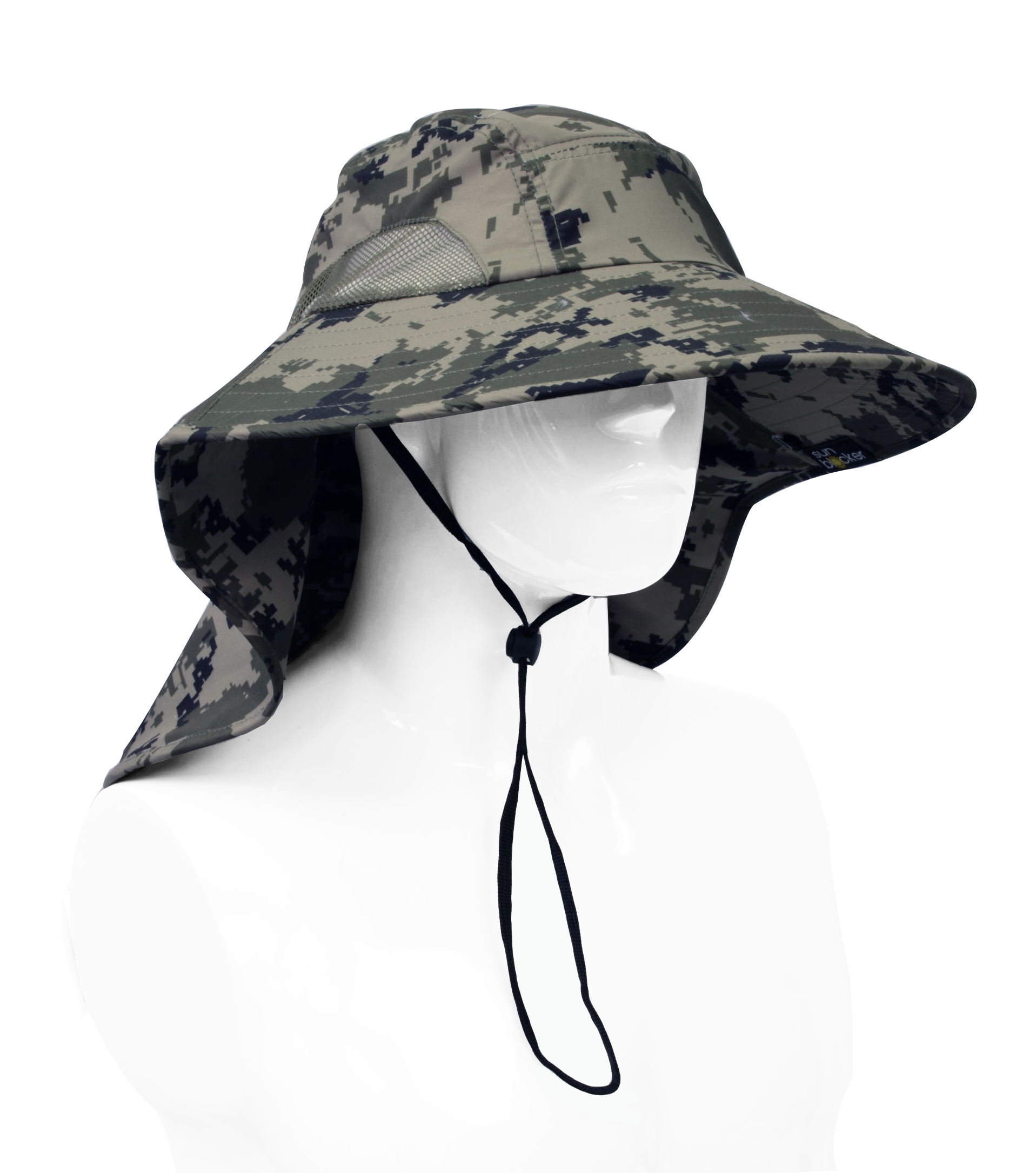 Sun-Hat-Camo-Cap-w-Wide-Brim-Ear-amp-Neck-UV-Protection-for-Fishing-Camping-Hiking thumbnail 8