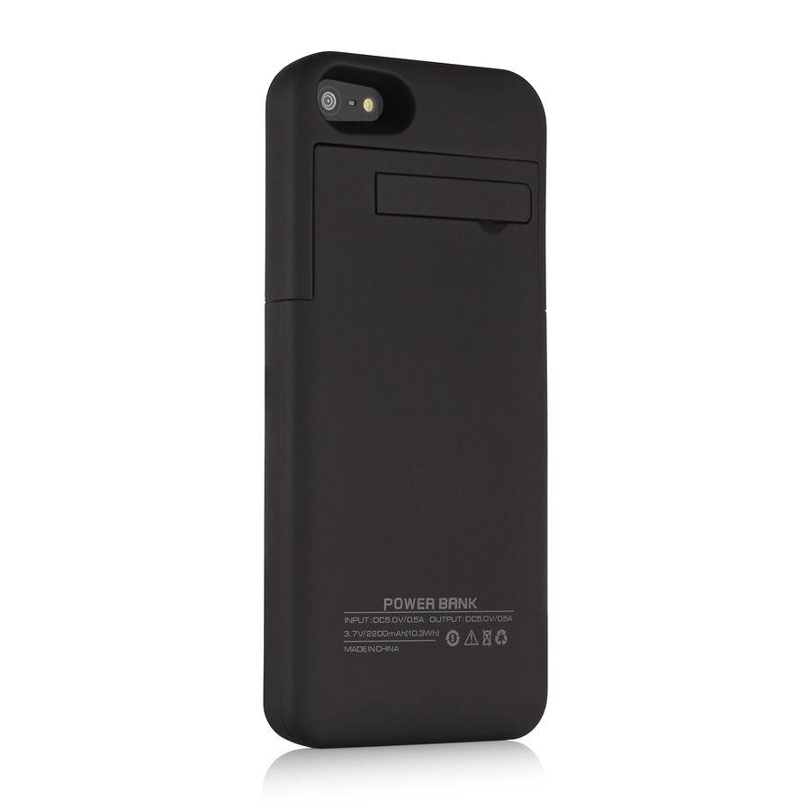 2200mah external battery backup charger case power bank. Black Bedroom Furniture Sets. Home Design Ideas