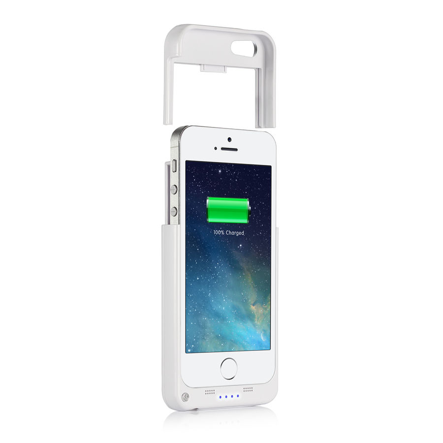 2200mah external battery backup charger case power bank for iphone 5 5s se ebay. Black Bedroom Furniture Sets. Home Design Ideas
