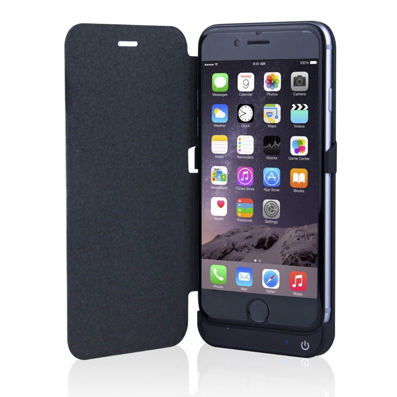 iphone 6s 4 7 3000mah extended battery flip cover backup. Black Bedroom Furniture Sets. Home Design Ideas