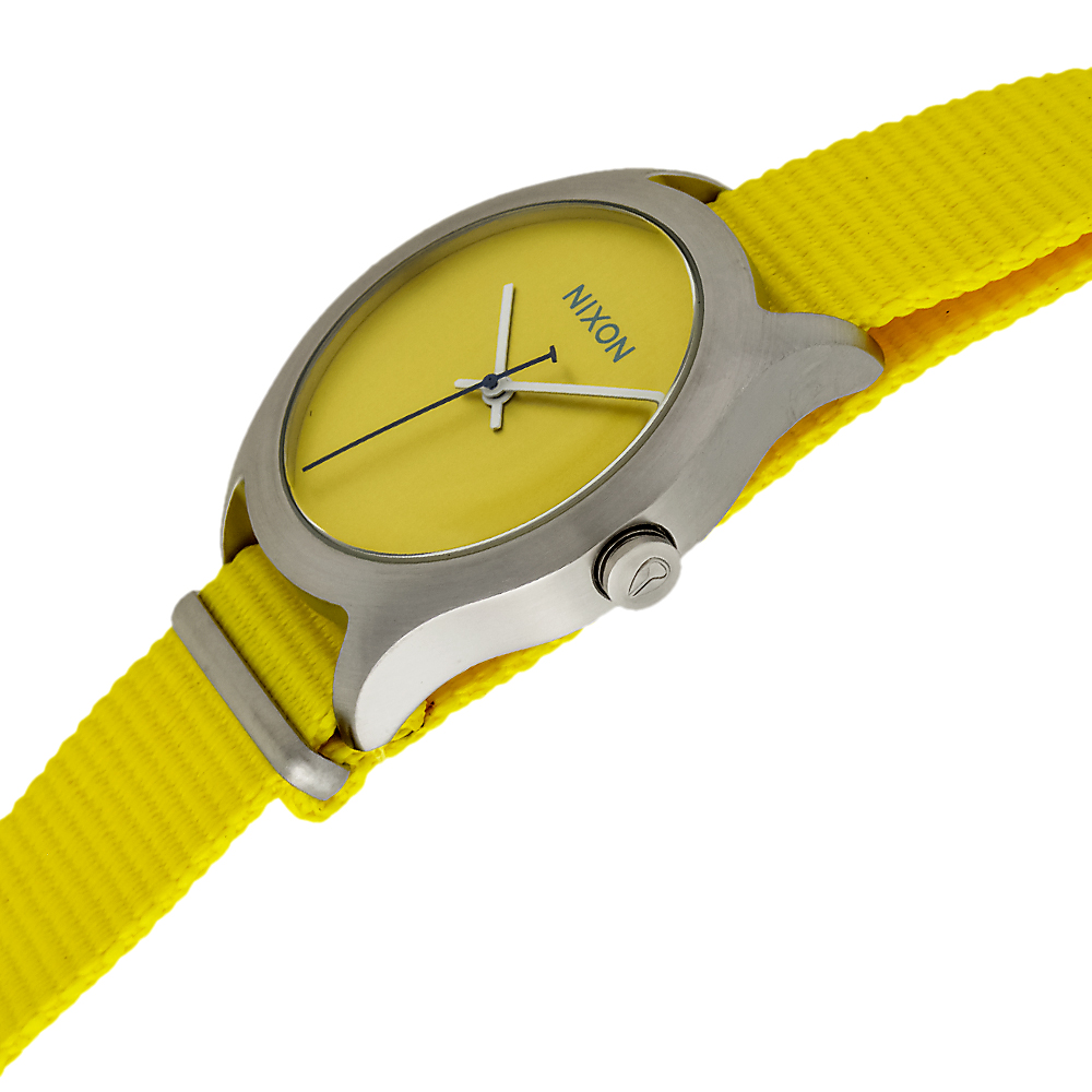 Nixon Steele Tops: Nixon Mod Stainless Steel Textile Quartz Women's Watch