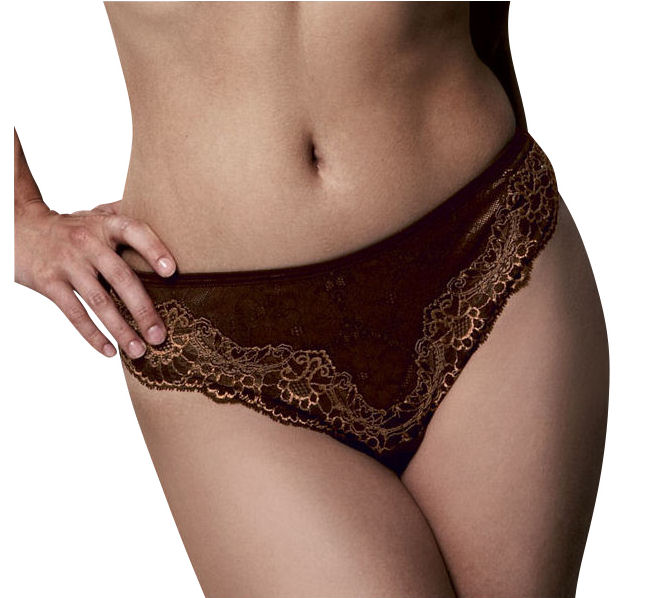 Fantasie-Fauve-0027-Amandine-Thong-Knickers-Midnight-Blue-Bronze-Various-Sizes