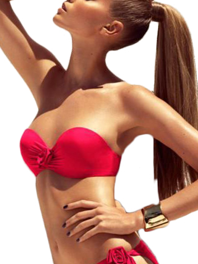 Rose Cybelle Chantelle Florea Bikini Top Strapless 2456 Underwired Padded