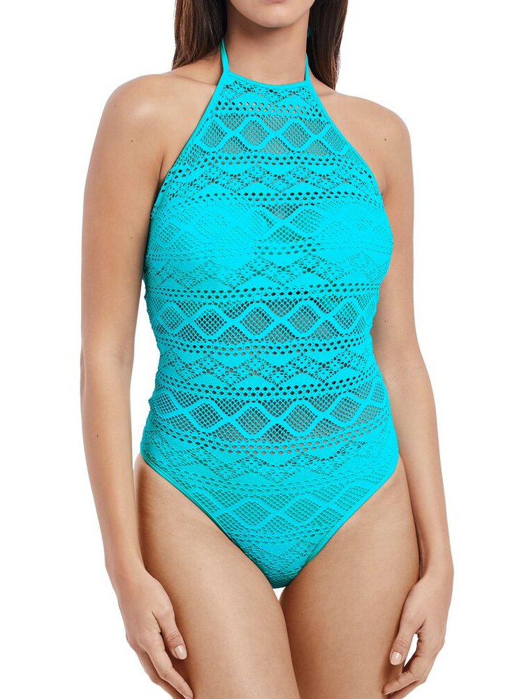 0e49e7a5f464f Details about Freya Sundance Sexy High Neck Cut Out Swimming Costume 3974  Underwired Swimsuit