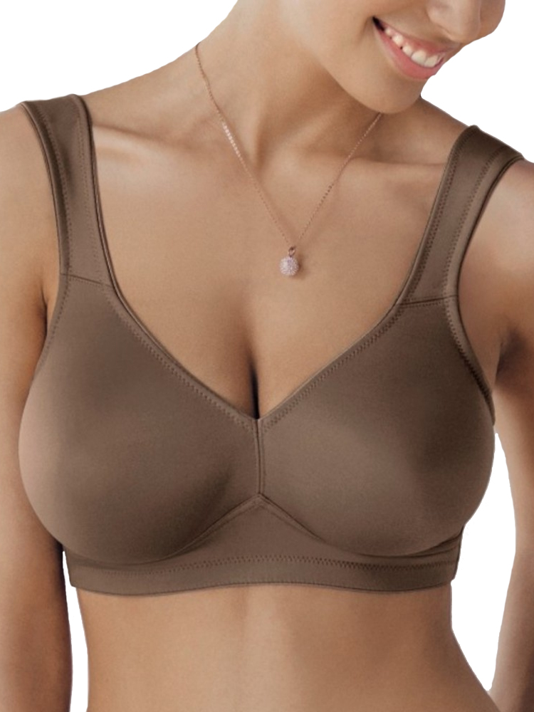 73e8423ff0 Details about Rosa Faia Twin Soft Cup Bra 5493 Non Wired Moulded Comfort  Lingerie- Deep Taupe