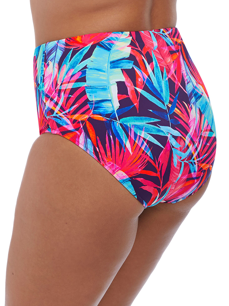 Elomi Swimwear Paradise Palm Bikini Brief Pant 7144 Ink Multi Print