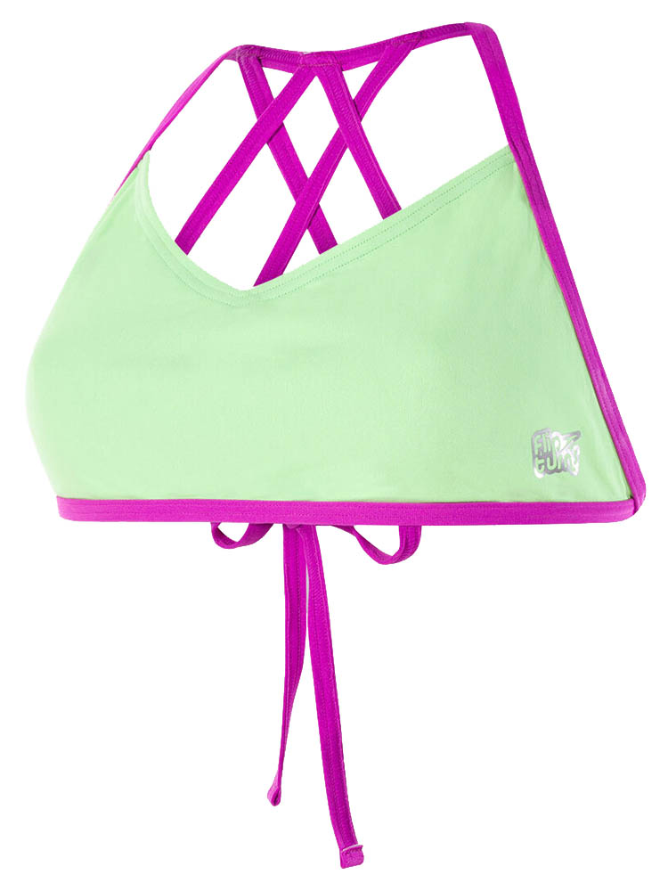Speedo Womens Neon Freestyler Bikini Top 8-11715C762 Non Wired Green//Pink