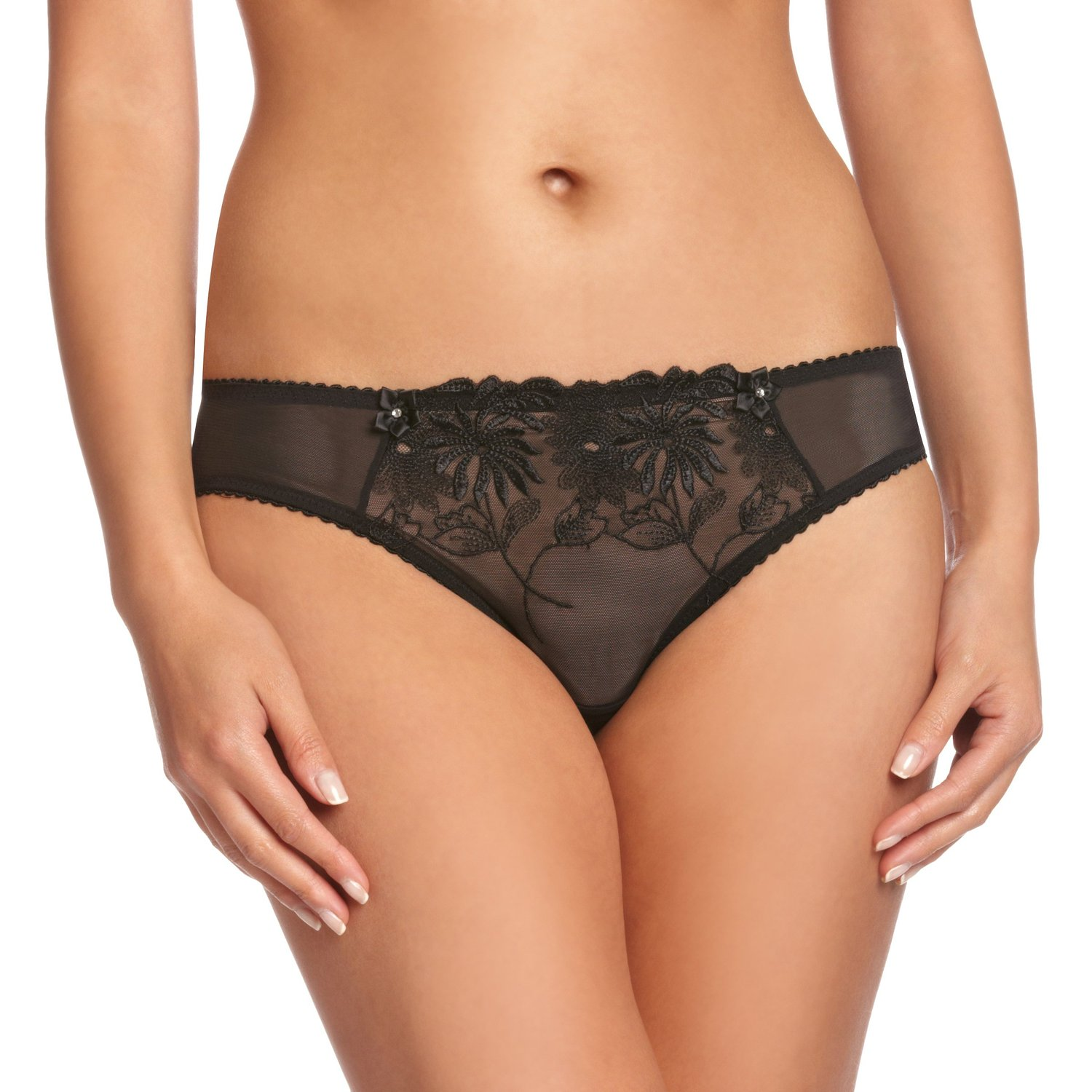 35a11b514b51 click image to enlarge. Pour Moi St Tropez Mid Rise Brief 7713 Soft Semi  Sheer Knickers ...