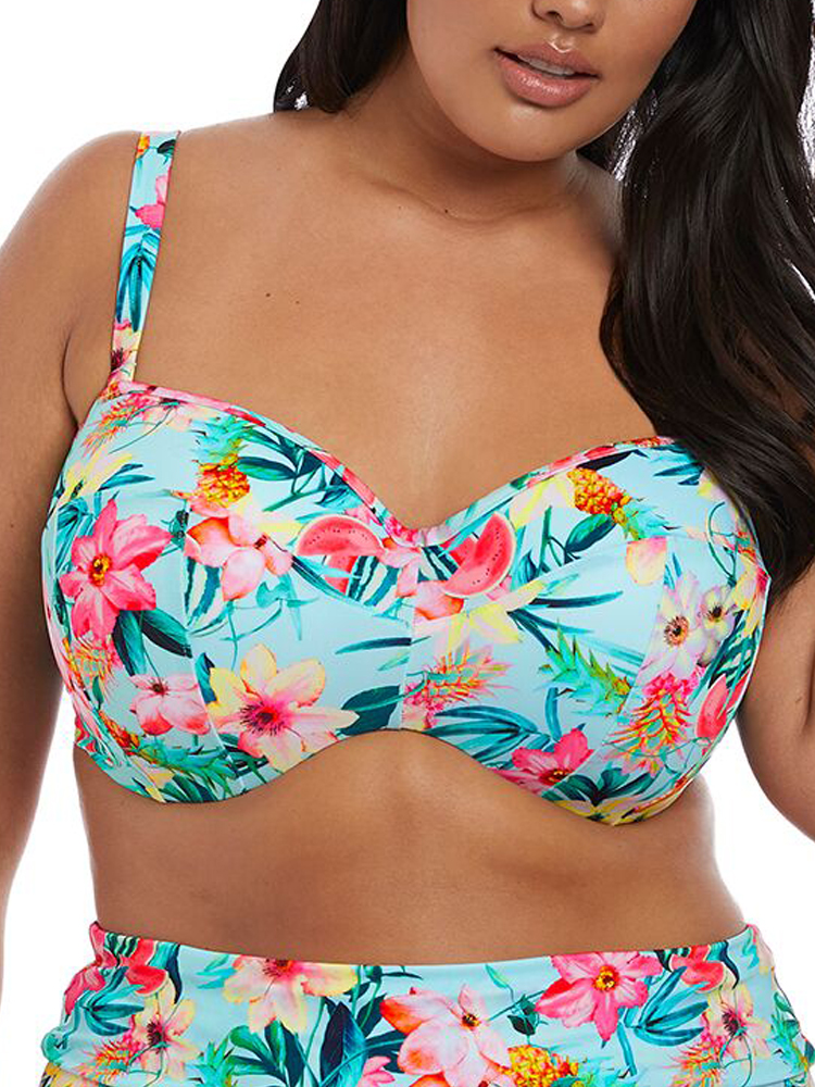 Chantelle Florea Bikini Top Balcony 2455 Underwired Padded Rose Cybelle