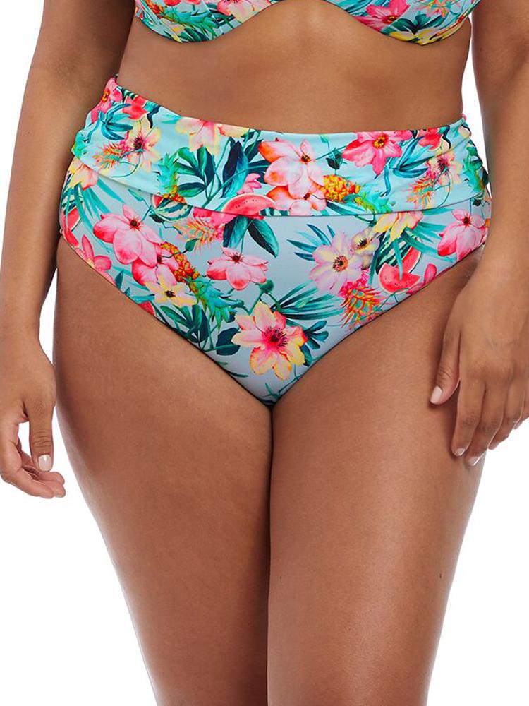 8a45a4d9e0aaa Elomi Aloha Fold Brief Bikini Bottom 7154 Fully Lined Swimwear- Aqua. click  image to enlarge