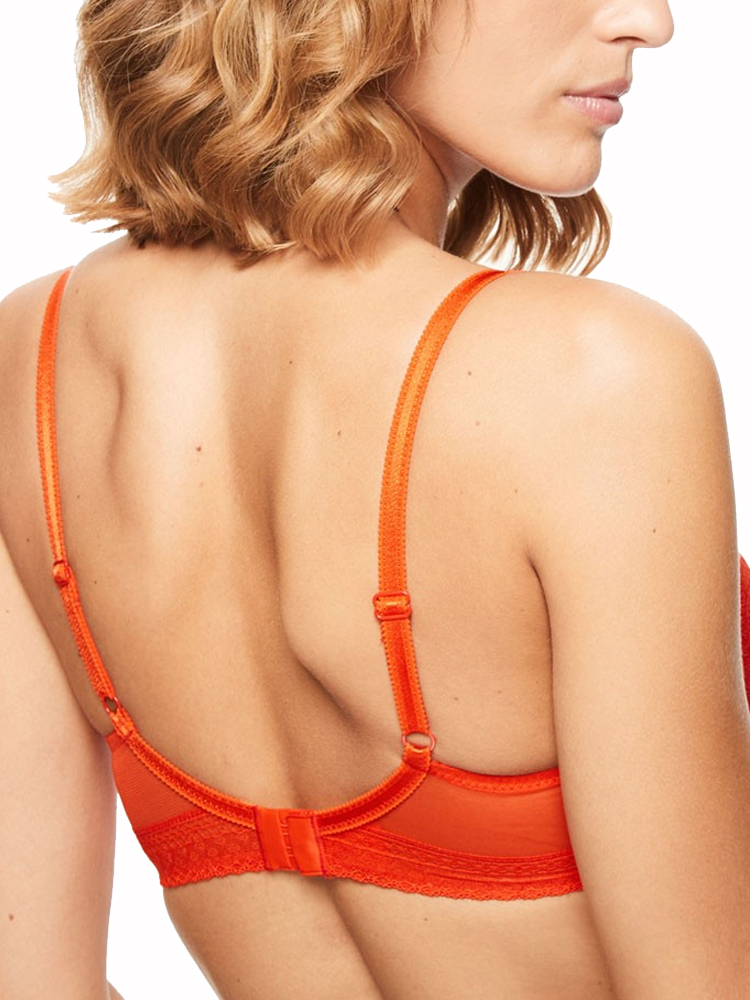 Chantelle-Festivite-Bra-Plunge-3682-Underwired-Lightly-Padded-Lace-Cups-Lingerie thumbnail 3