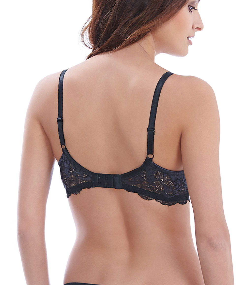 378bccc175bf1 Wacoal Lace Affair Contour Bra Wa853256 Black graphite 32 E for sale ...