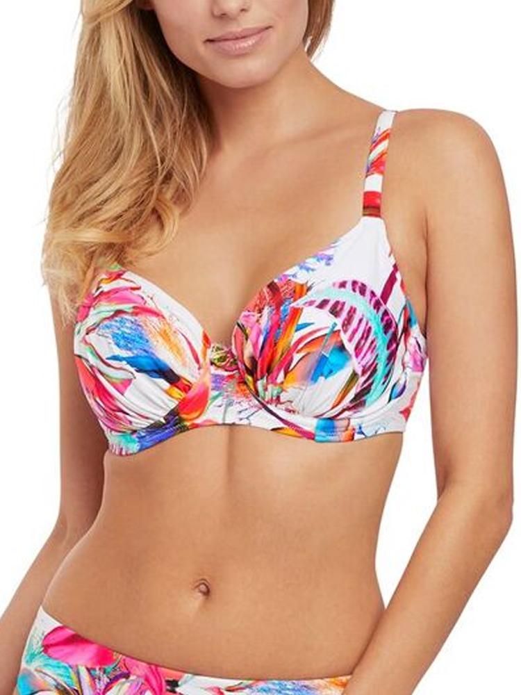 b2a5db1d98 Fantasie Paradis Baie Bonnet plein Doublé Haut Bikini 6474 à Armatures  Froncé