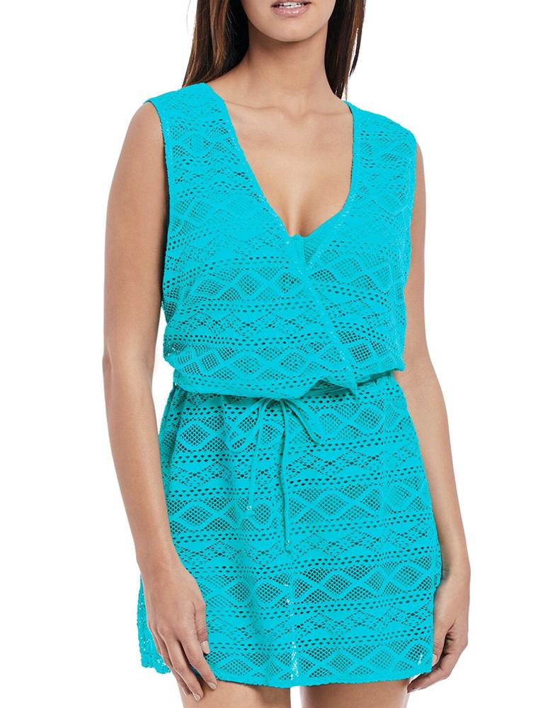76a30ffdc9154 Details about Freya Sundance Crossover Dress 3978 Summer Beach Cover Up  Kaftan Pink Blue