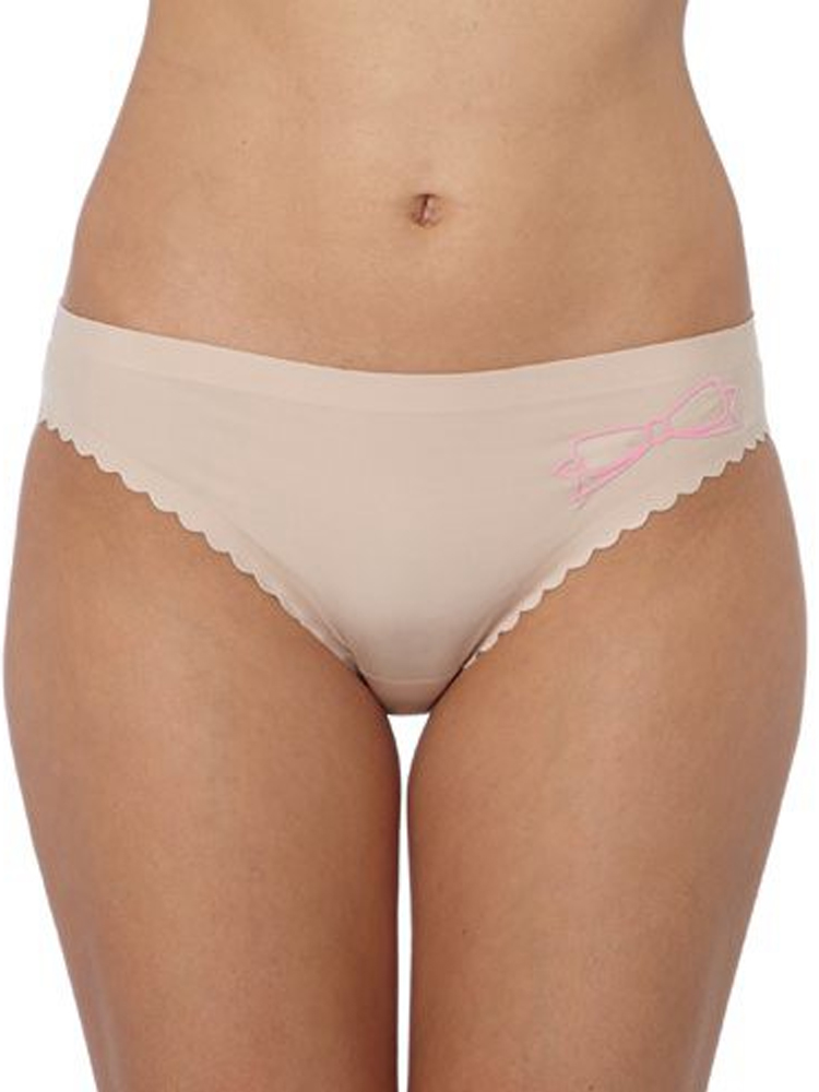 09140fc0e3b6 Details about Passionata by Chantelle Love Bow Mid Rise Brief No VPL 7194  Knickers - Nude