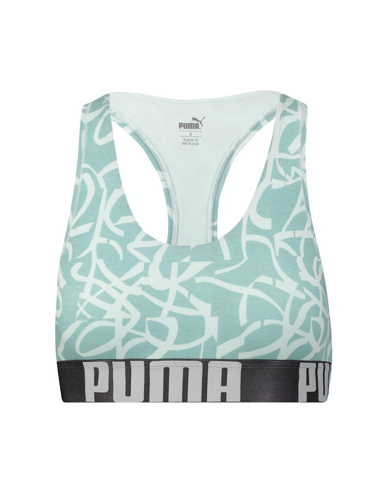 8b124b5a013 Puma Graffiti Bralette 583005001 Racerback Non Wired Soft Stretch ...