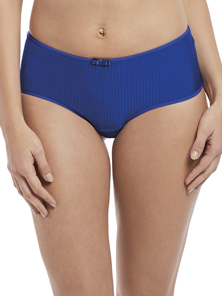 Chantelle Festivite Brief Short Mid Rise C36840 Lace Hipster Knickers Ice Blue