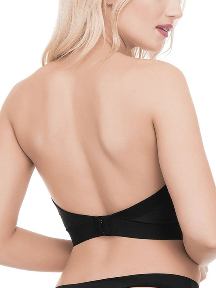 7c17313eb1b14 Ultimo Longline Low Back Strapless Push Up Bra 0403 Removable Gel ...