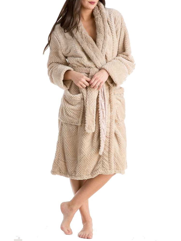 PJ Salvage Waffle Robe RZWAR Long Sleeve Dressing Gown Bath Sizes XS ...
