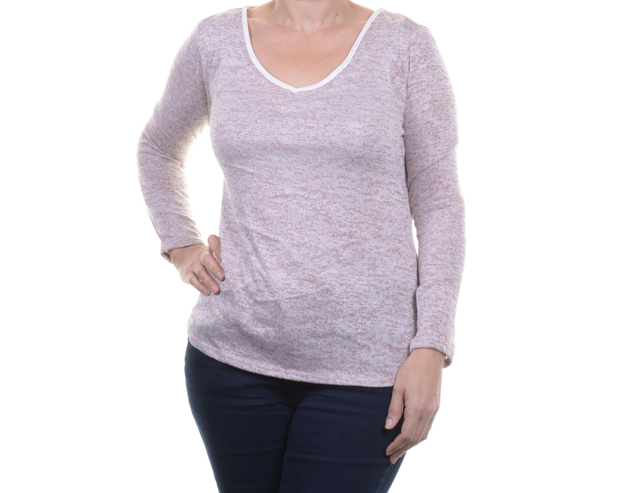 a5cc60be65919a BAR III WOMEN'S V-Neck Long Sleeve Top Size L - $12.96 | PicClick
