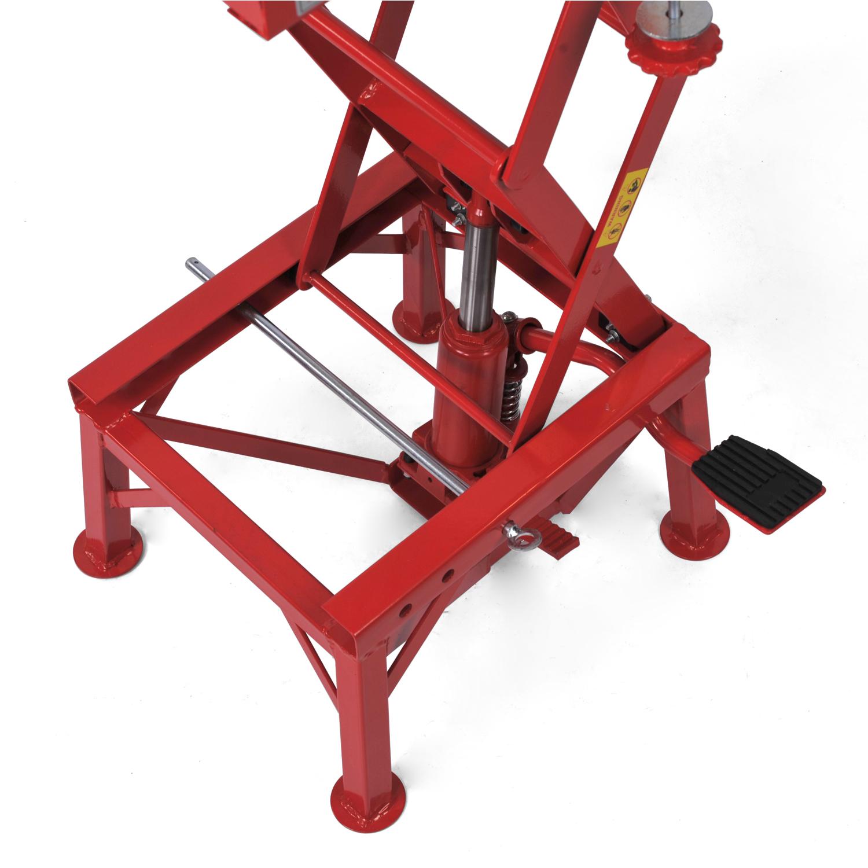Hydraulic Scissor Car Jack : Lb motorcycle hydraulic scissor floor jack lift wide
