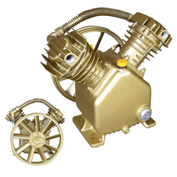 5hp twin cylinder air compressor pump dual 2 piston v On dual motor air compressor