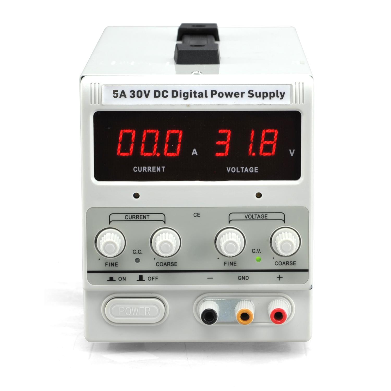 Digital Power Supply : A v dc power supply adjustable dual digital variable