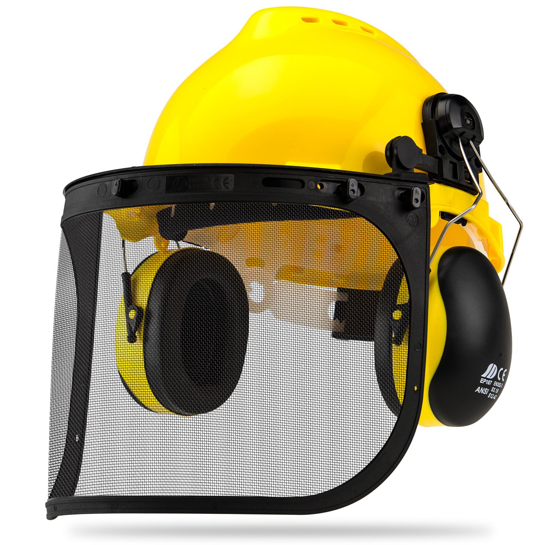 Neiko 4 - 1 Commercial Safety Helmet Set   Construction Full