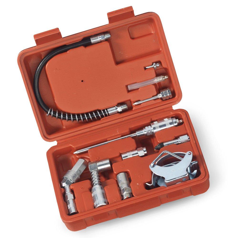 Tooluxe multifonctions graisse pistolet et Lubrification Kit d/'accessoires