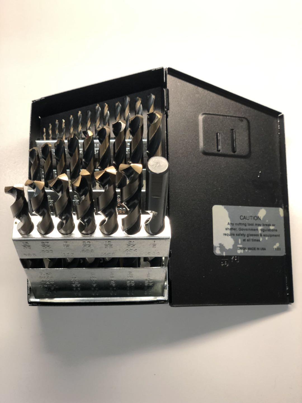 29pc Drill Bit Magnum Jobber Drill Set Tri-Flat Professional Tool Huot USA Box