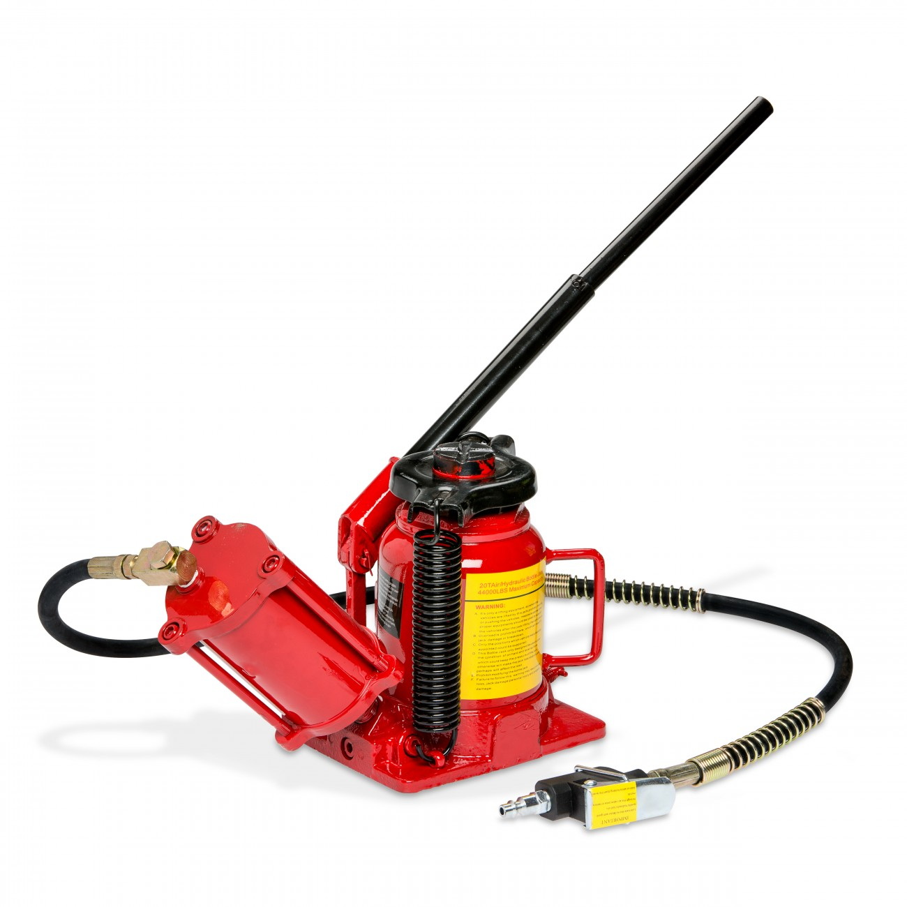 Details about 20 Ton Bottle Jack Lift Air Manual Pneumatic Hydraulic Low  Profile RV Truck