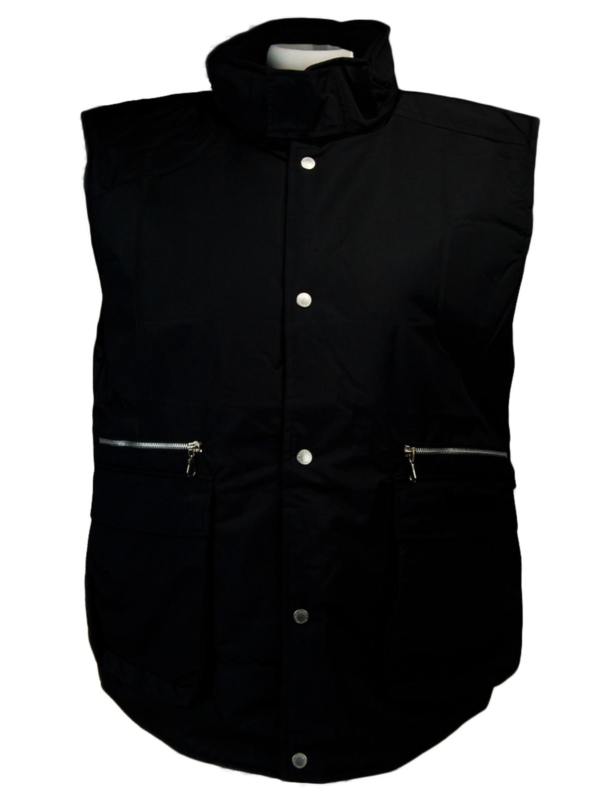 GianFranco-Ferre-X-large-Nero-Black-Sleeveless-Jacket