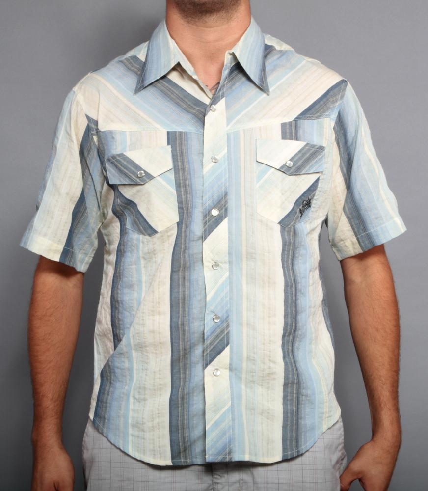 New Davinci Original Charlie Sheen Bowling Dress Shirt