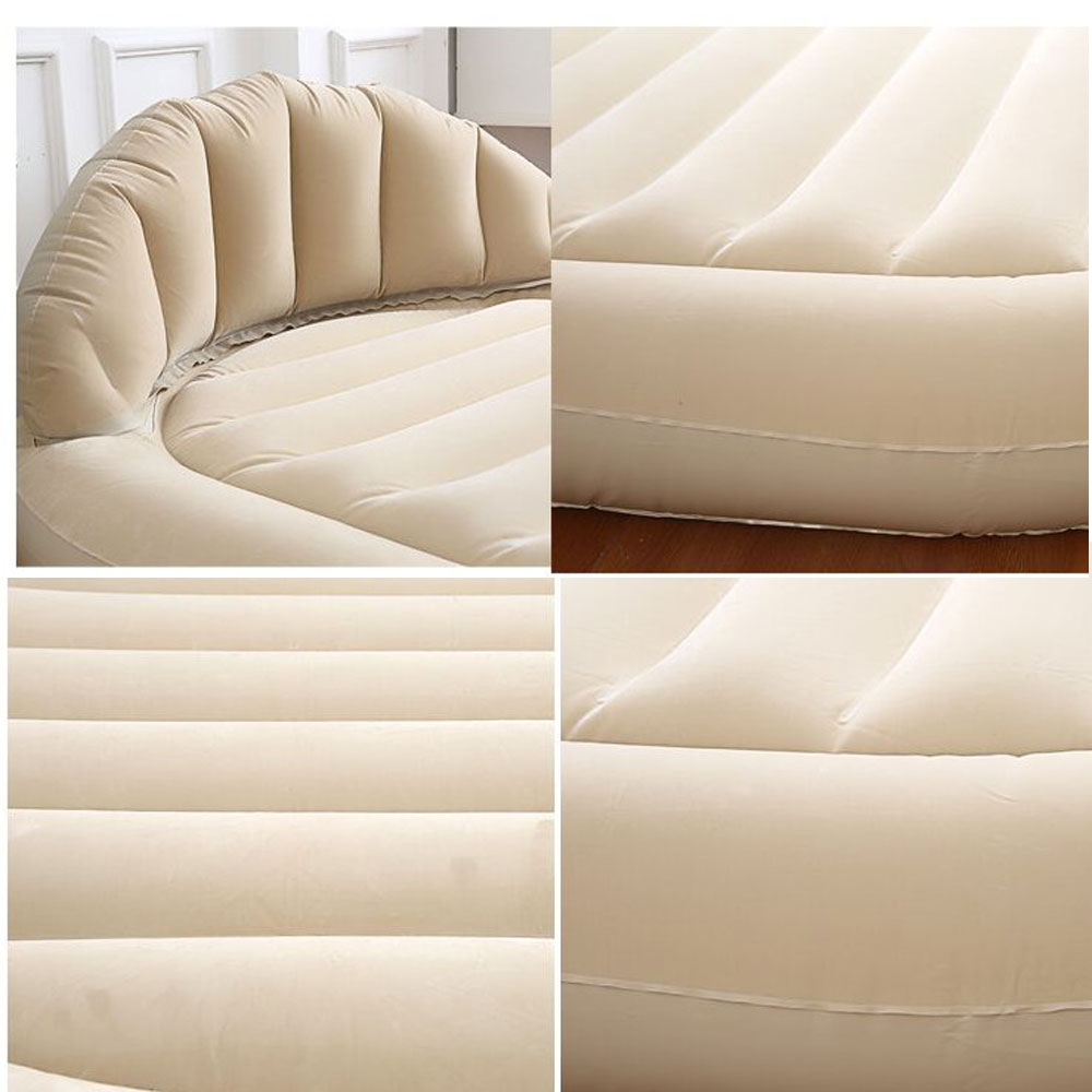 Inflatable Sofa Air Bed Lounger: Daybed Lounger Inflatable Pull-Out Sofa Couch Double Air