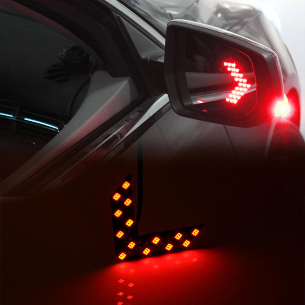 1pair 12v 14 led red arrow panel car turn signal light rear view mirror auto ebay. Black Bedroom Furniture Sets. Home Design Ideas