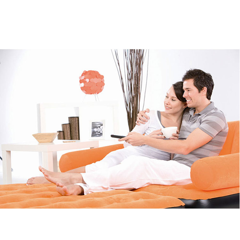Inflatable Sleeper Sofa Bed: Inflatable Pull-Out Sofa Couch & Full Double Air Bed