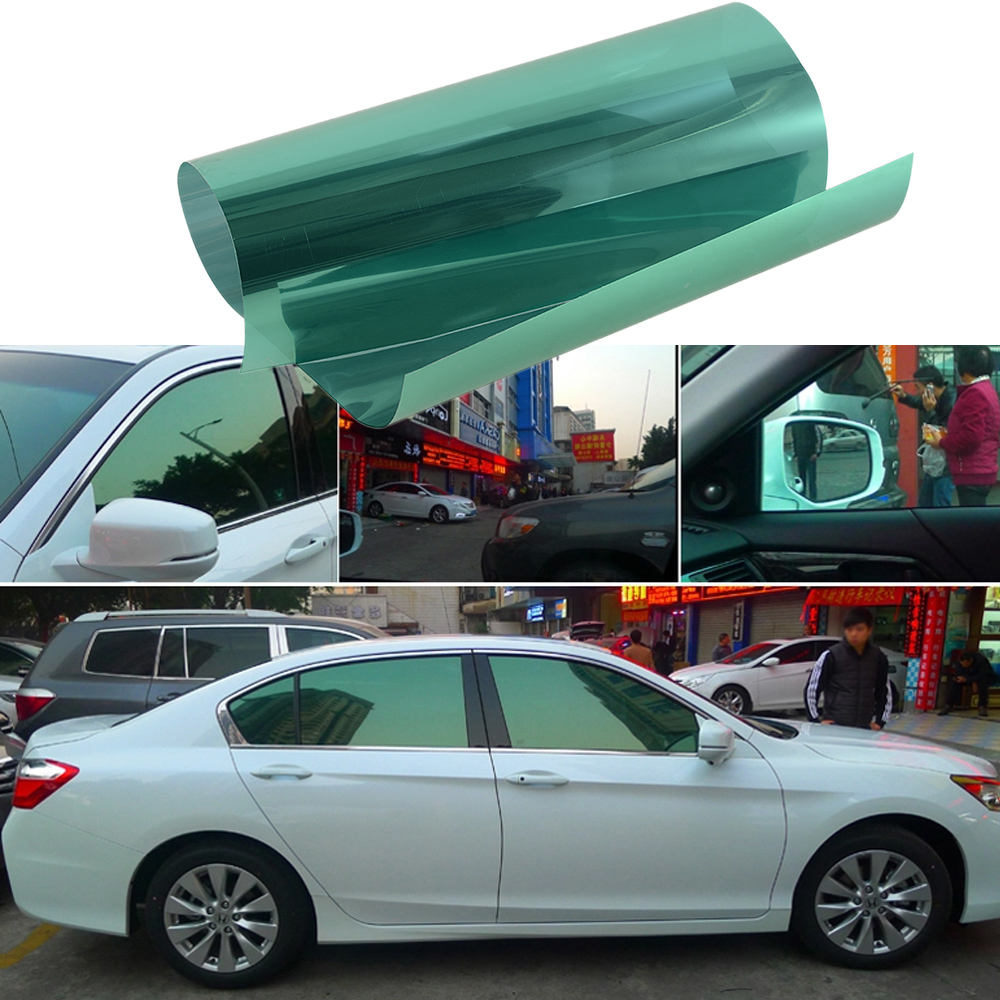 Plating Green Auto Side Window Solar Film Tint 0.5Mx3M UV
