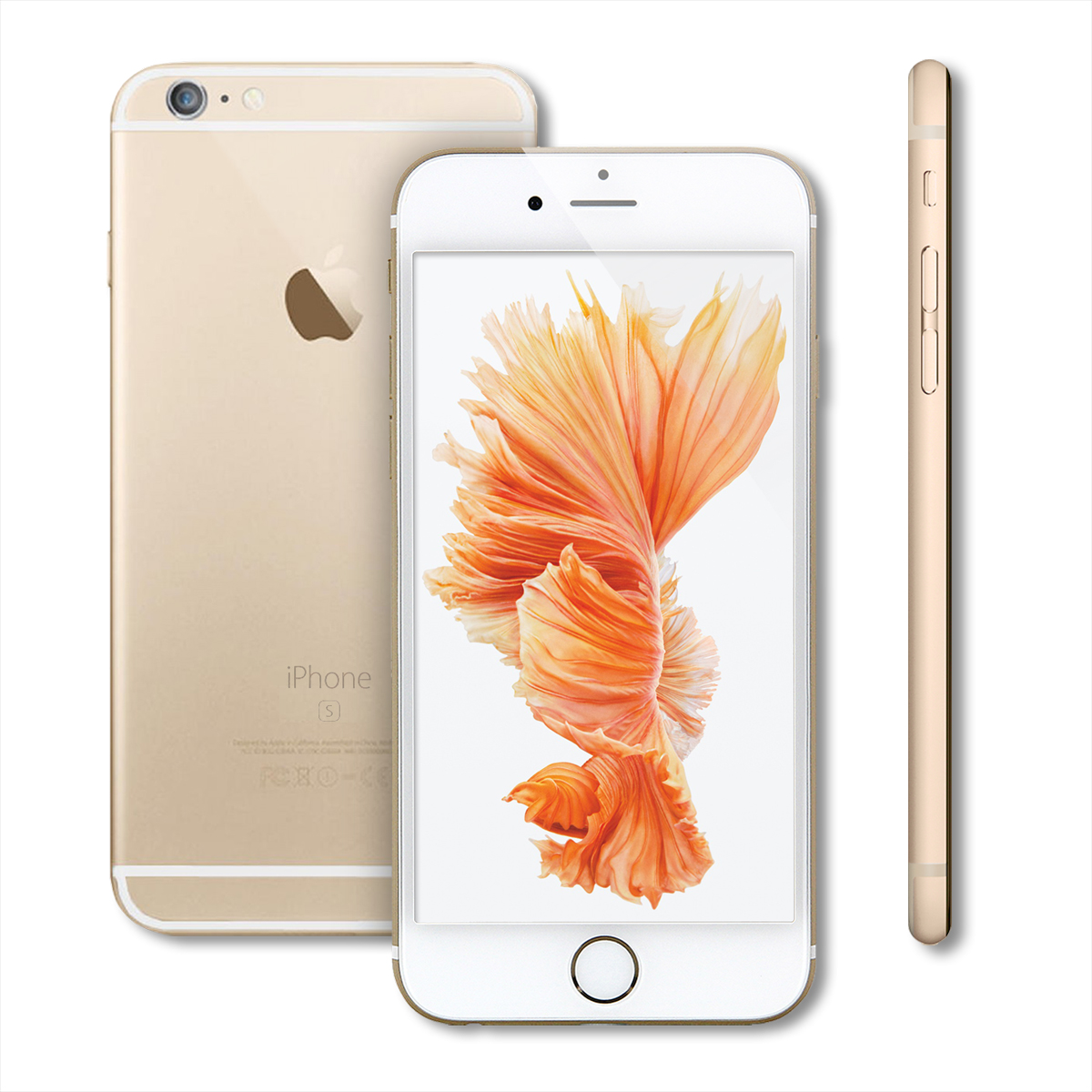 Apple iPhone 6S Smartphone 16GB Unlocked Cell Phone a1688 Silver Rose ...