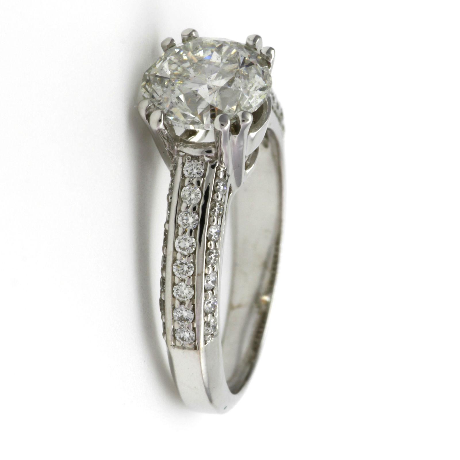 2 1 2 CT LADIES ROUND DIAMOND RING 8 PRONG 14 KARAT WHITE GOLD