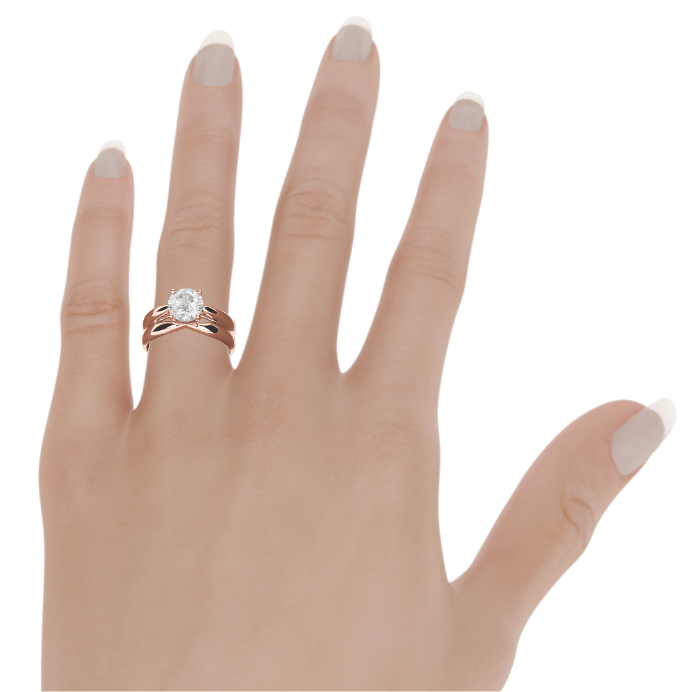 Fine Jewelry 2.5 Ct Wedding Solitaire 14 Karat Rose Gold Red Diamond Ring Round Brilliant Vs Outstanding Features