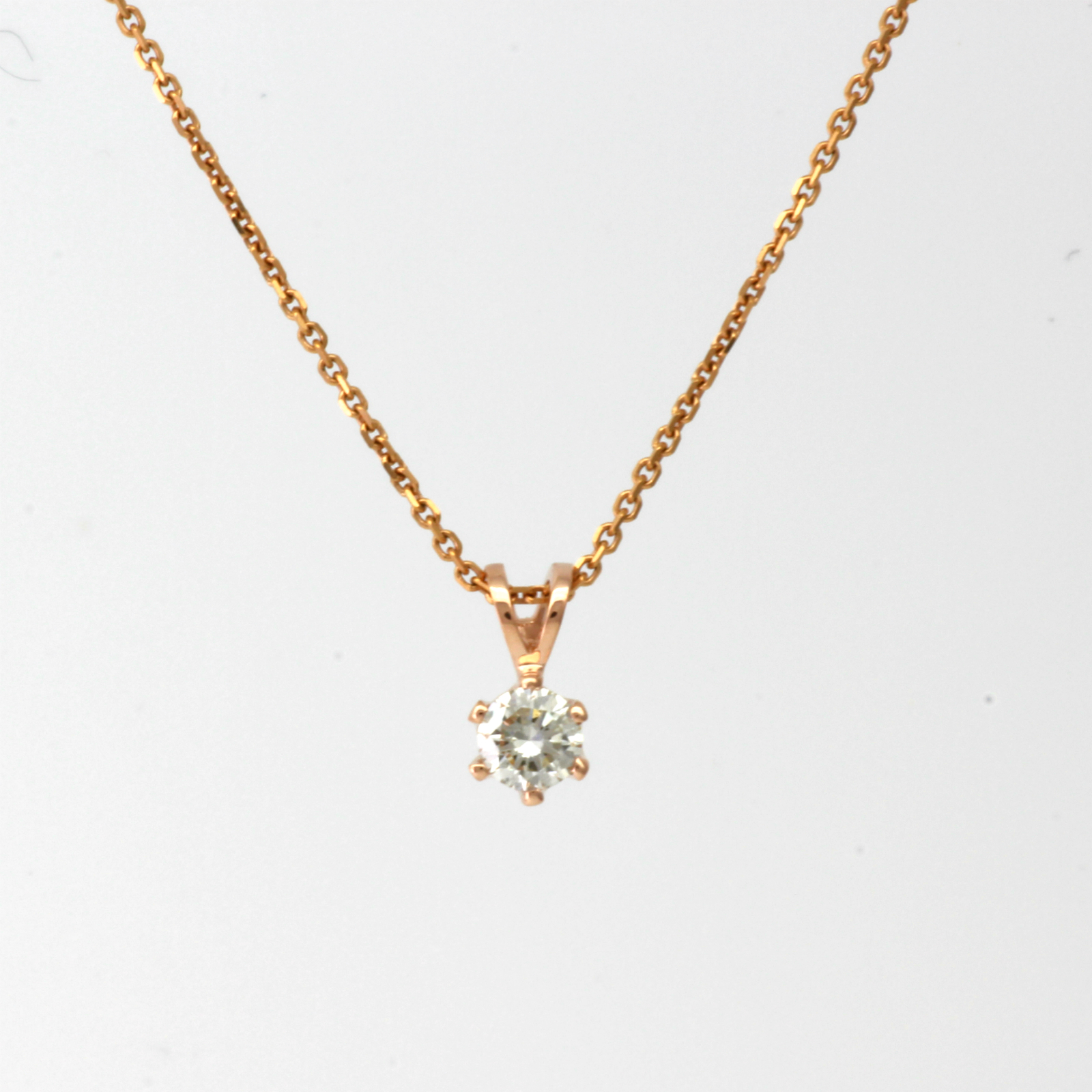 Necklace round diamond pendant 1 ct vs1 14k rose gold red natural pendant details aloadofball Gallery