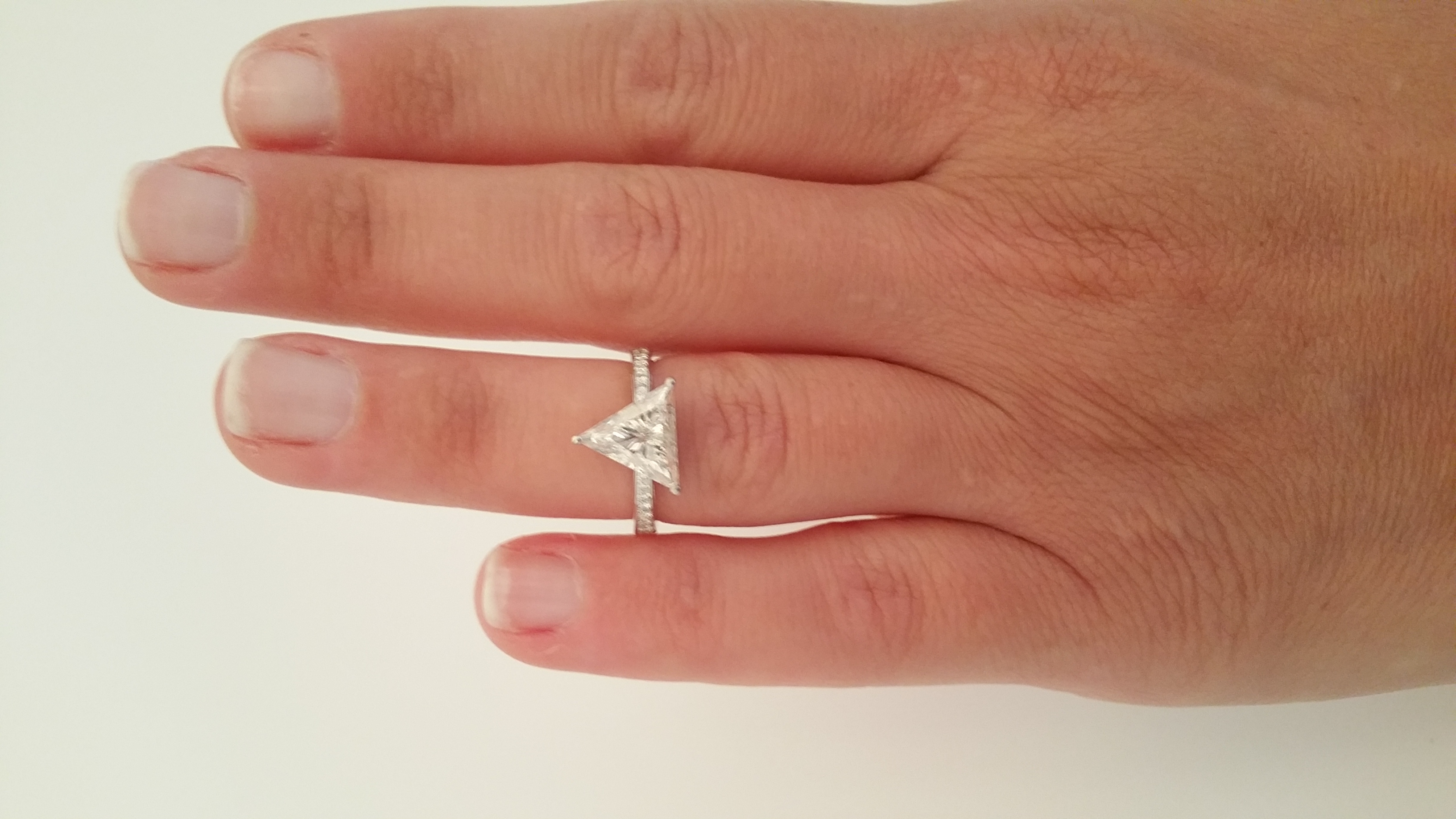 of ring wedding pics solitaire finger diamond imgur carat awesome rings unique