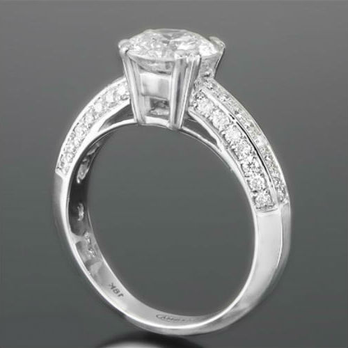 Ladies Vs1 D Flawless Diamond Round Ring 1 67 Carats New