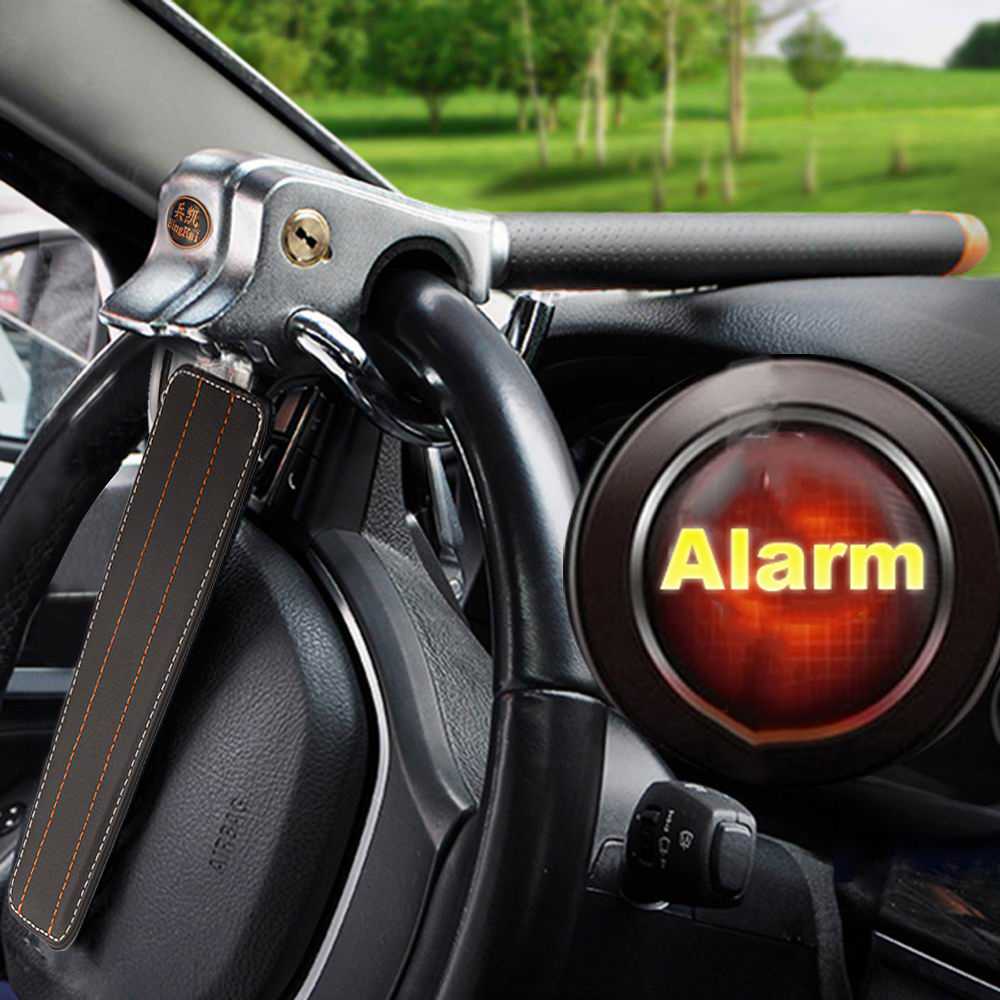 car auto high security anti theft alarm steering wheel security lock universal ebay. Black Bedroom Furniture Sets. Home Design Ideas