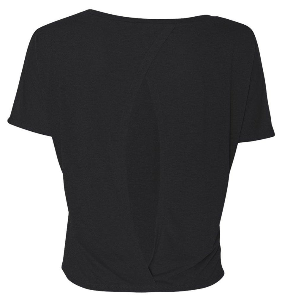 Bella-Women-039-s-Cutout-Back-Flowy-T-Shirt thumbnail 6