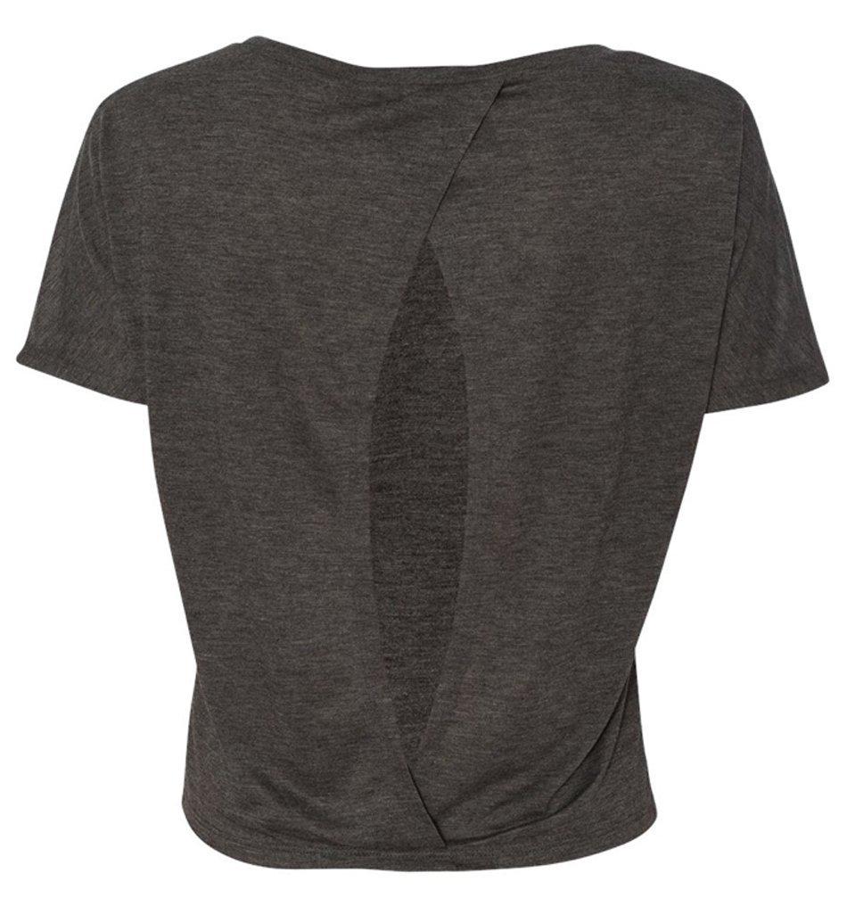 Bella-Women-039-s-Cutout-Back-Flowy-T-Shirt thumbnail 9